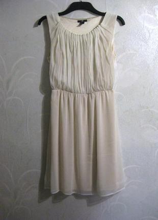 Платье h&m бежевое молочное белое