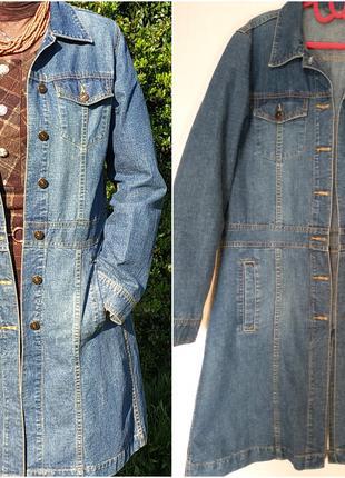 Тренч плащ джинсовый кардиган длинная куртка р.50 Dunnes Stores
