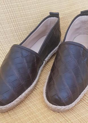 Туфли/мокасины/кожа питона