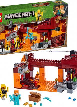 Конструктор LEGO 21154 MINECRAFT Мост ифрита 372 детали   набо...