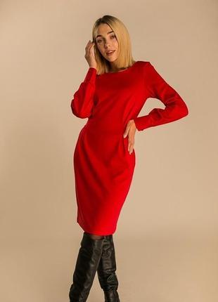 Универсальное платье миди с красивой спинкой сукня міді