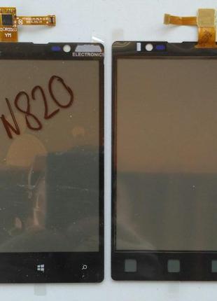Сенсорный экран для NOKIA Lumia 820 Black