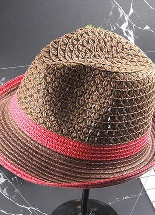 13-156 шляпа женская летняя от солнца шляпка панамка пляжная