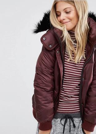 Куртка дутая Abercrombie & Fitch XL Бордо