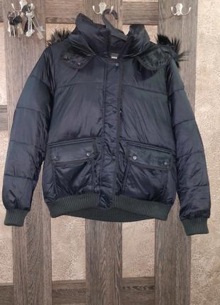 Куртка дутая Abercrombie & Fitch размер XL Черный