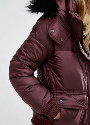 Куртка дутая Abercrombie & Fitch размер S Бордо