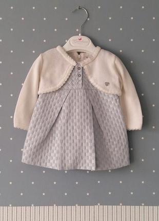 Платье (парча) с болеро mayoral (испания) на 3-6 месяцев (разм...