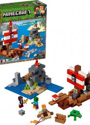 Конструктор LEGO MINECRAFT 21152 Приключения на пиратском кора...