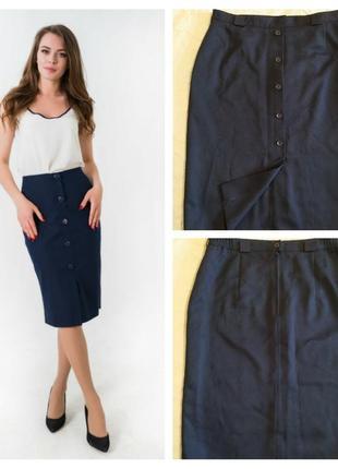 Классическая юбка карандаш с разрезом спереди ,uk-20