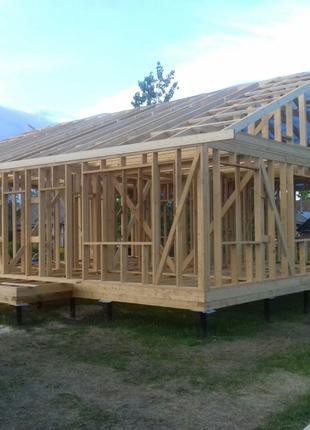 Любые строительные работы связанные с деревом.