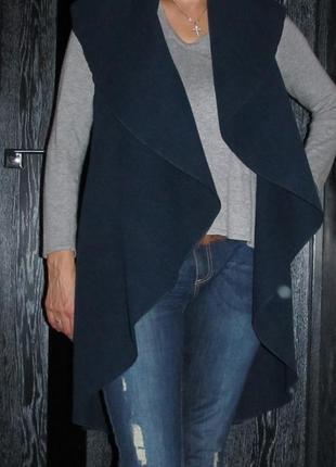 Трендовое длинное пальто без рукавов, жилет, накидка luigi mod...