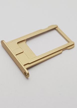 Держатель сим карты Apple iPhone 6 Plus золото Сервисный ориги...
