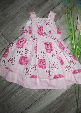 Котоновое платье от young dimension 12-18 мес (86см)