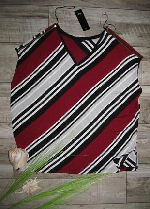Вискоза, трикотажная блуза с геометрическим принтом  f&f р.16