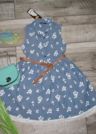 Красивенное платье от george  122-128см, возраст 7-8 лет.