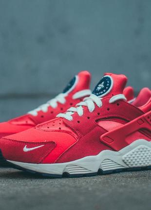 Оригинал, Nike Air Huarache Run PRM- University Red-sai (28 cм)