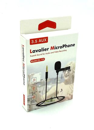 Микрофон - петличка Deepbass GL-119 3.5 AUX