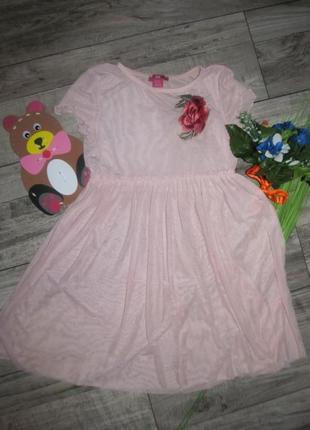Нежное платье сетка с вышивкой yd  рост 140 см