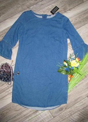 Джинсовое платье f&f  в двух размерах 6 и 8