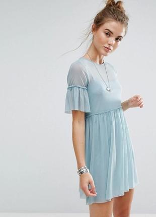 Оригинальное платье-сетка  new look  р.10 смотрите замеры !!!