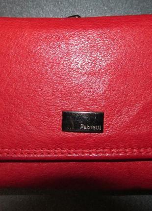 Кожаный кошелек fabretti оригинал. размер 10,5х 9см