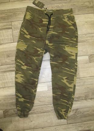Стильные мужские джинсы джоггеры камуфляж zara man denim ® р. l