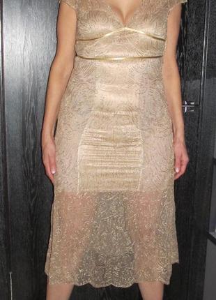 Платье сетка с вышивкой coast 12р.