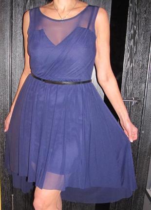 Стильное коктейльное платье от warehouse размер uk 16 -сильно ...