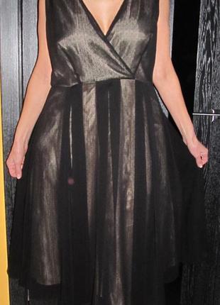 Стильное коктейльное платье от laura  ashley размер uk 16