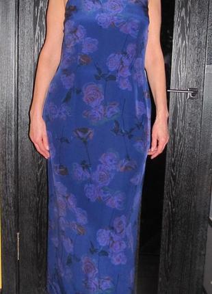 Шикарное  шелковое платье  от laura ashley р.14