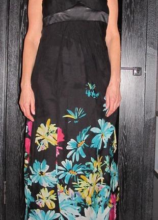 Шикарное шелковое платье сарафан  от  monsoon р.8