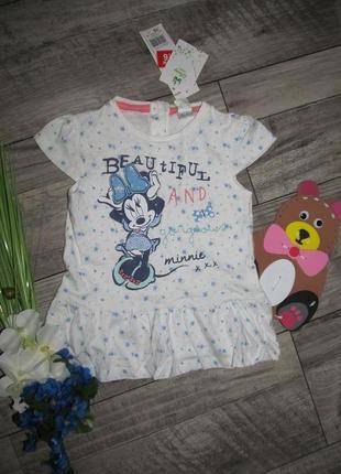 Трикотажное платье  disney на 18-24мес