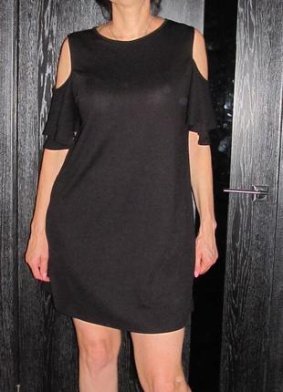 Стильное платье от boohoo cold shoulder swing dress р.uk 18