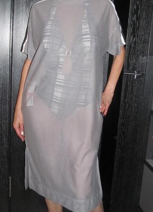 Сетчатое платье-футболка asos р. oversize