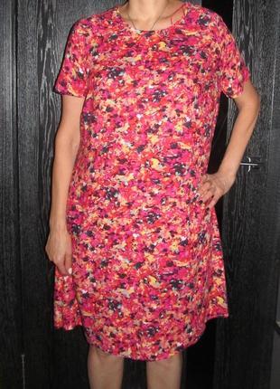 Легкое платье papaya р. 18  маломер
