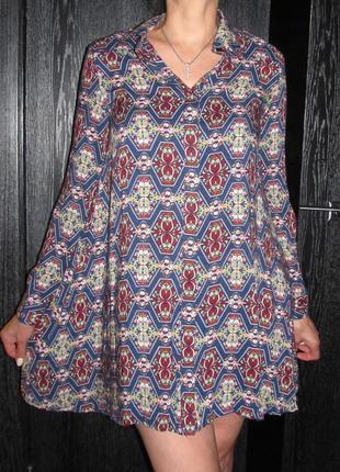 Легкое  платье-рубашка от glamorous р. s