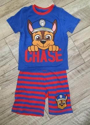 Костюм футболка шорты щенячий патруль george  4-5 лет 104-110cм
