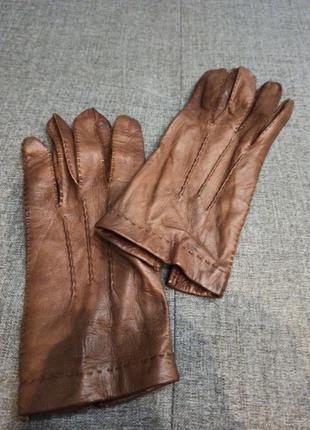 Кожаные перчатки без подкладки