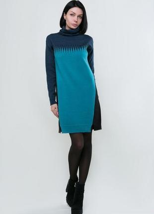 Платье вязаное под горлышко молодежное, код 2852м