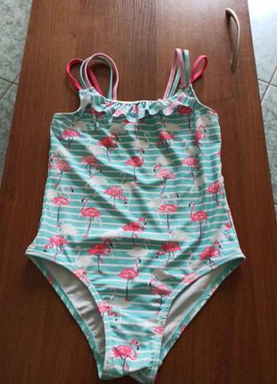 Красивый купальник с фламинго