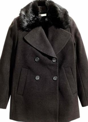 Стильное классное полупальто пальто женское бренд h&m швеция р...