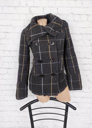 Пальто клетчатое куртка