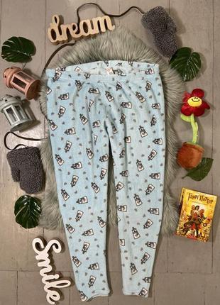 Теплые флисовые домашние брюки штаны №50