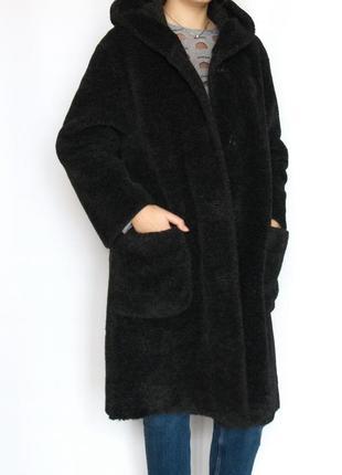 Ультрамодная шуба, пальто, тедди, италия.