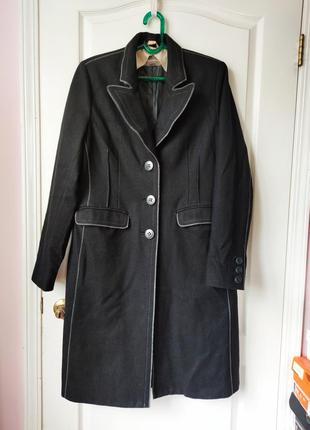 Модное прямое пальто, шерстяное пальто, пальто бойфренд