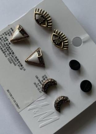 Сережки-Гвоздики H&M ! 4 пары