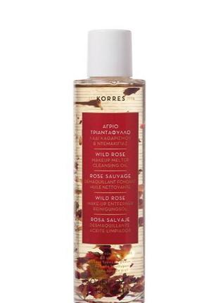 Korres очищающее гидрофильное масло для снятия макияжа с дикой...