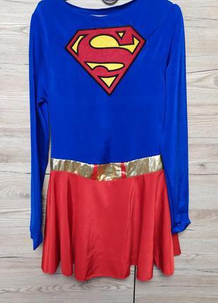Детский костюм, платье супервумен на 11-12, 13-14, 15-16 лет