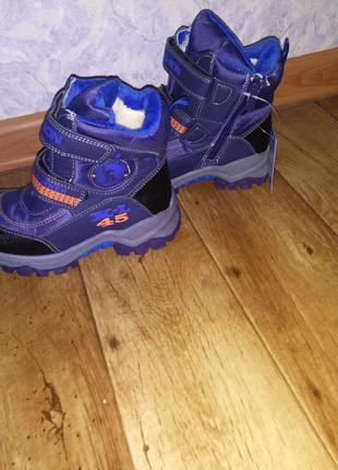 Новые зимние ботинки термоботинки для мальчика 27-32 размеры