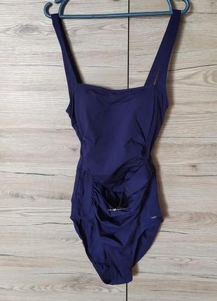Женский закрытый синий купальник, 34-36 рр.